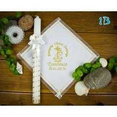 Szatka i świeca do Chrztu Świętego, model 1B