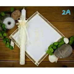 Szatka i świeca do Chrztu Świętego, model 2A