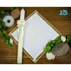 Szatka i świeca do Chrztu Świętego, model 2B