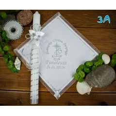 Szatka i świeca do Chrztu Świętego, model 3A